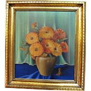Still life oil painting by listed American artist Elizabeth Roesener