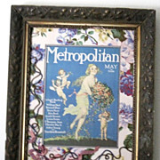 Metropolitan magazine cover in a ornate custom frame