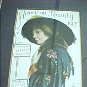 Framed 1917 American Beauty Farm and Home Calendar