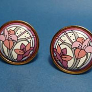 Michaela Frey pastel floral clip earrings from Austria