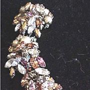 Made in Austria signed dangle rhinestone pin