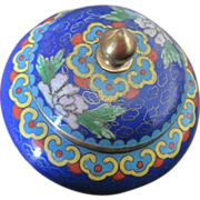 Chinese cobalt cloisonne covered ring holder