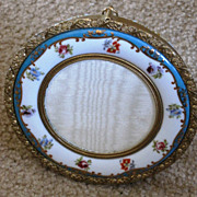 French porcelain and ormolu trimmed picture frame