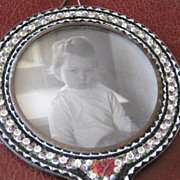 Early Italian Micro Mosaic hand held picture frame