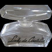 Lady de Castillo Paris one fluid ounce empty  factice