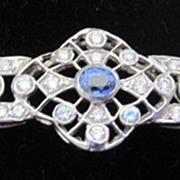 Vintage Fine Platinum Diamond and Sapphire bracelet