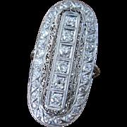 Platinum and 2.50 tw carat diamond Edwardian ring