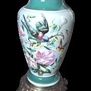 English Bristol Glass Lamp base