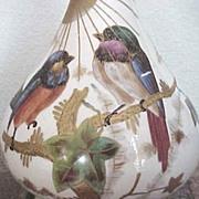 Royal Bonn hand decorated bird vase