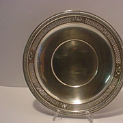 REDUCED Vintage  Round  Pierced  Sterling Silver Plate