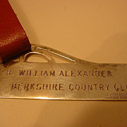 SALE English Sterling Silver Luggage Tag  Handmade Signed