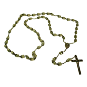 Sterling  Silver And  Crystal Beaded  Rosary