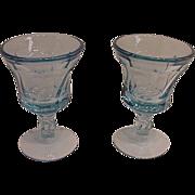 Fostoria Jamestown Blue Juice Glasses