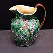 Antique England Majolica Pitcher Marked Wedgwood