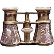 SALE Mother of Pearl Abalone Opera Glasses
