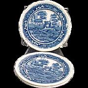 Copeland Spode 3 Small Plates Spode Tower Blue