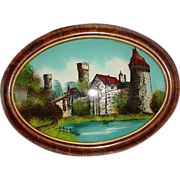 Antique Reverse Painting On Glass