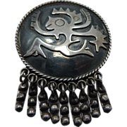 Vintage Sterling Maricela  Tasco Brooch Pendant