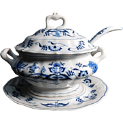 REDUCED Blue Danube Blue Onion  Soup Tureen