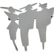 Sterling Art Deco Style Pin