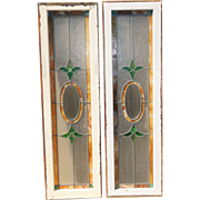 Two Large Vintage  Stained Glass Windows