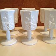 Westmoreland Milk Grapevine Glasses (set of 6)