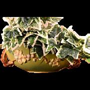 Roseville Pottery 1948 Green Apple Blossom 2 Handle Ovoid Bowl 329-10