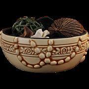 Weller Pottery Late Teens Pearl Design Cream Bowl