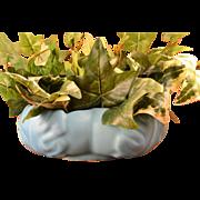 Van Briggle Pottery Ming Blue Oak Leaf Bowl