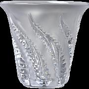 Lalique Crystal Lobelia Fern Vase #12226
