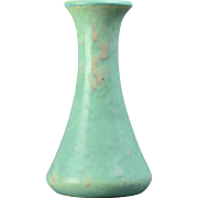 Brush McCoy Pottery 1924 Green Art Vellum Vase #064