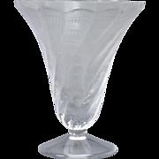Lalique Crystal Vase, Lucie