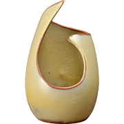 SOLD Frankoma Pottery Candle Holder in Desert Gold  #21, 1964-76