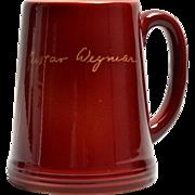 Rookwood Pottery Mug Maroon Gustav Weymar Mug (Shape #5870), 1950
