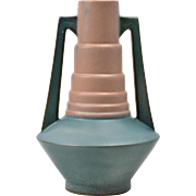 Roseville Pottery Vase Futura Telescope Vase (Shape 382-7), 1928