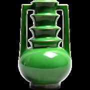 Roseville Pottery Vase Futura Emerald Urn Vase (Shape 389-9), 1928