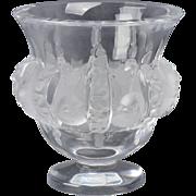 Lalique Crystal Dampierre Sparrow Vase