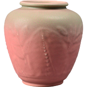 Rookwood Pottery Pink with Gray Large Vase Floral Motif #6218, 1931