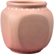 Rookwood Pottery Vase Matt Pink Cube Rivet Vase (Shape #2762), 1924