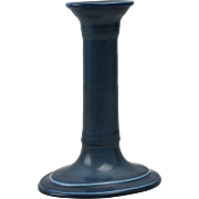 Rookwood Pottery Candle Holder, Matt Blue Candle Holder (Shape #508), 1920