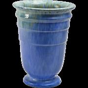 Roseville Pottery Vase Blue Tourmaline Vase #614-8, 1933