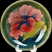 Moorcroft Pottery Green Hibiscus Bowl