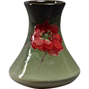 Weller Pottery Vase, 1898-1918 Eocean Tapered Vase with Roses