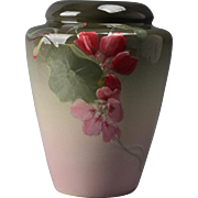 Weller Pottery Vase, 1898-1918 Rose Eocean with Flowers Ovoid Vase