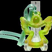 Daum Crystal Ornament, Pate de Verde Green Angel Ornament