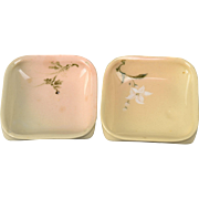 Rookwood Pottery Trays, AMB Single Butter Tray or Ashtray Japanesek Cameo #320 W, 1886