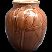 Rookwood Pottery Vase, 1930 Wine Madder Brown Tulips Large Vase #6833