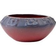 Van Briggle Pottery Bowl, 1922-26 Mulberry Floral Bowl USA