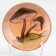 Moorcroft 1990 Mushroom Brown Pin Dish 4 1/2 inch