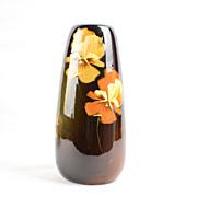 Weller 1896-1924 Louwelsa Pansies Vase Lamp Base S6 Artist signed F